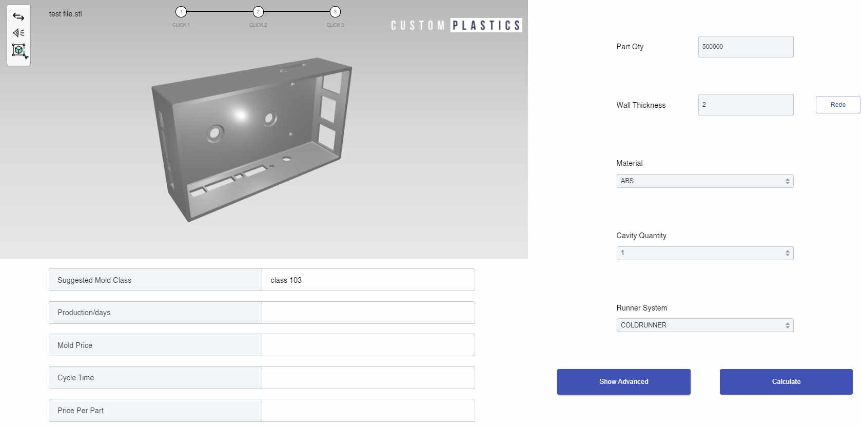 injecting molding cost