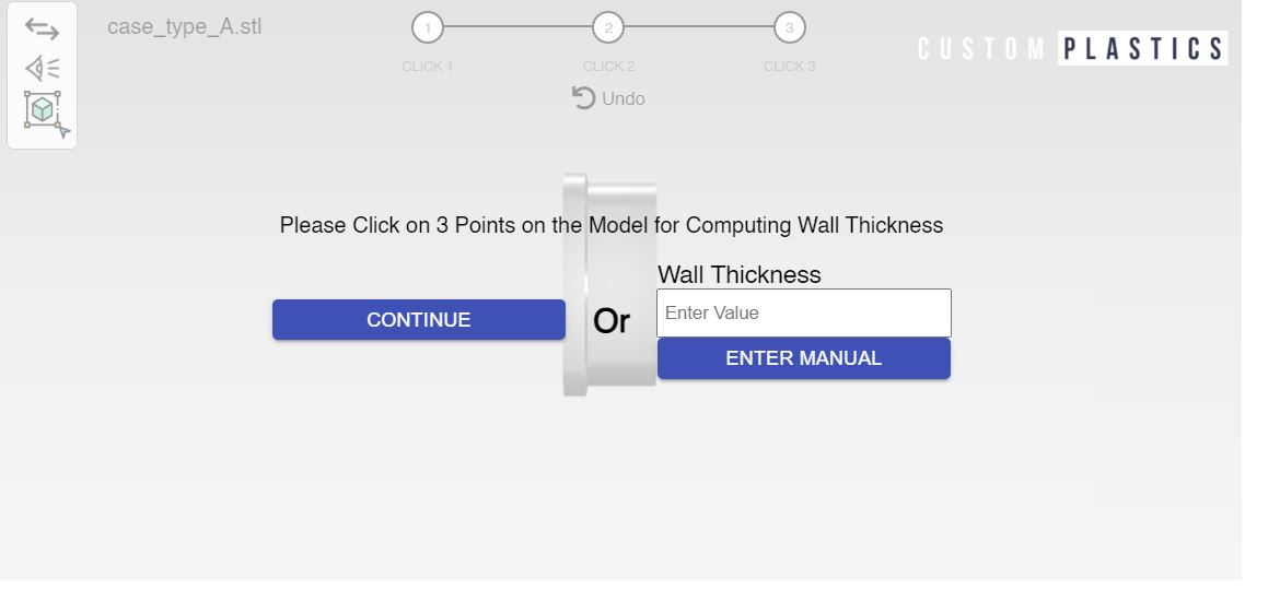 wall thickness selection