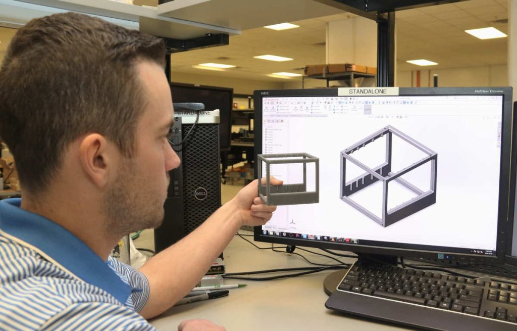comparing 3d print to model